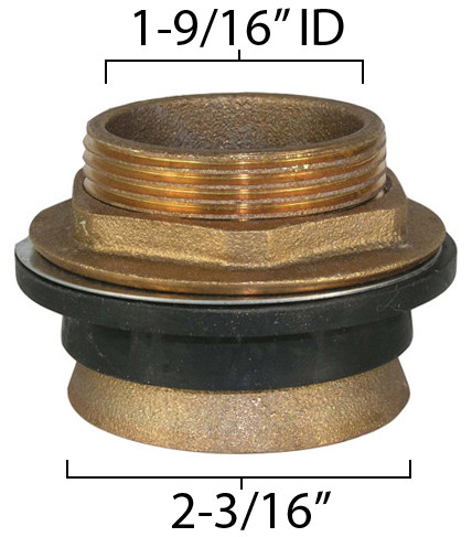"Toilet Spud (for standard 1.5"" vacuum breaker flush tube)"